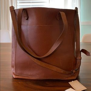 Madewell Medium Transport Tote English Saddle